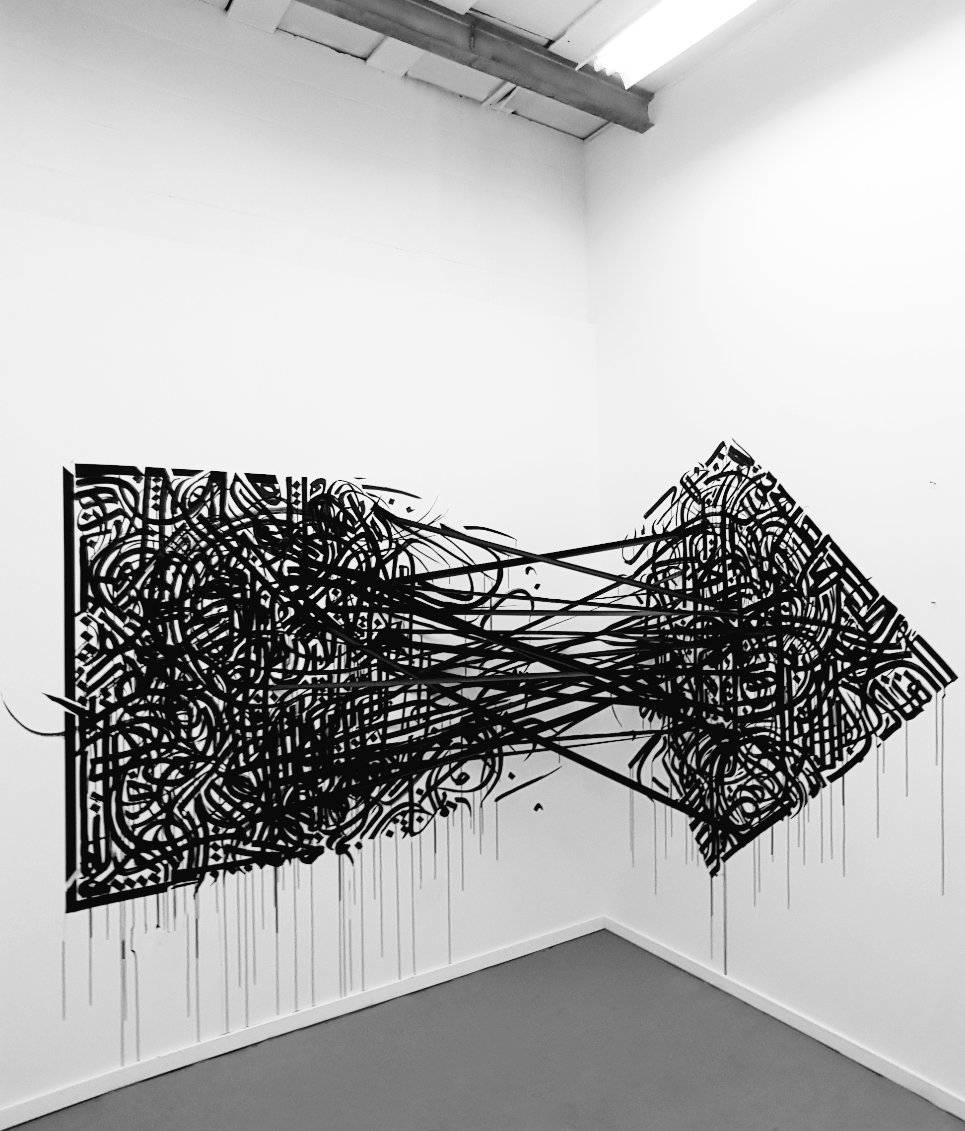 Wired Into You_Calligraphy Installation_Size Variable